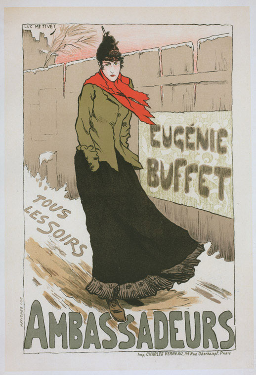 Chanson Singer, Eugenie Buffet by Lucien Metivet (1896)