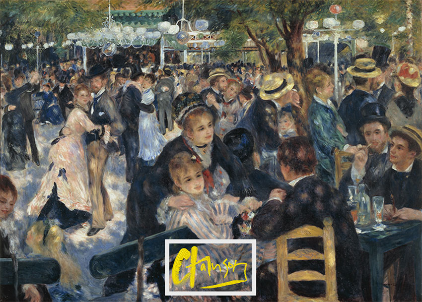 Renoir's Le Moulin de la Galette Remix by Author