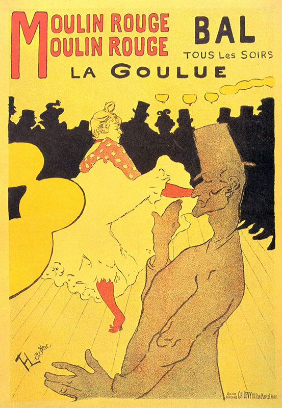 Poster of Jane Avril at Le Moulin Rouge by Henri de Toulouse-Lautre