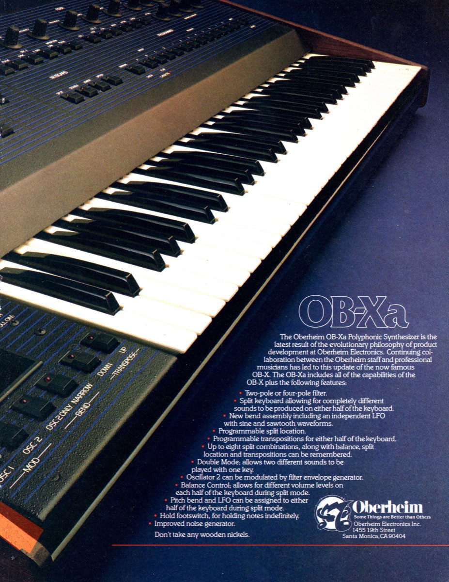 Click to view larger image of Oberheim OB-Xa Ad