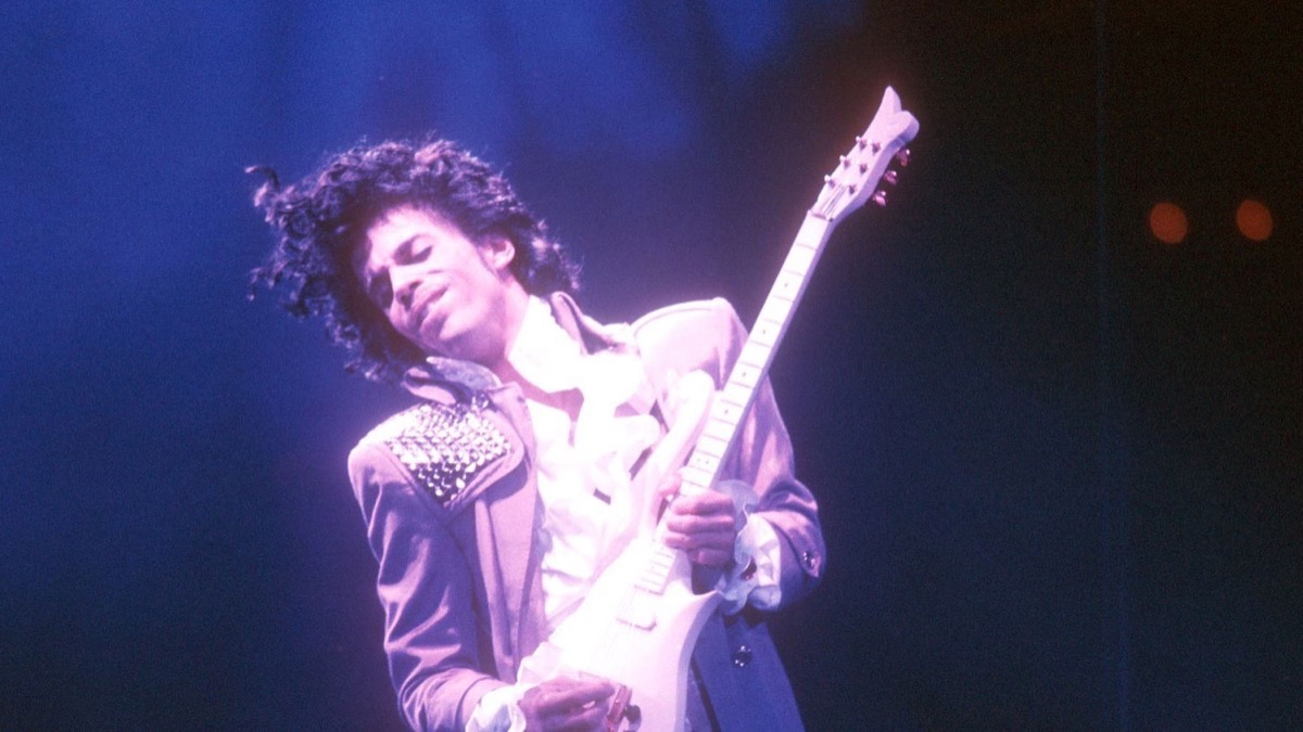 Prince with his Cloud Guitar