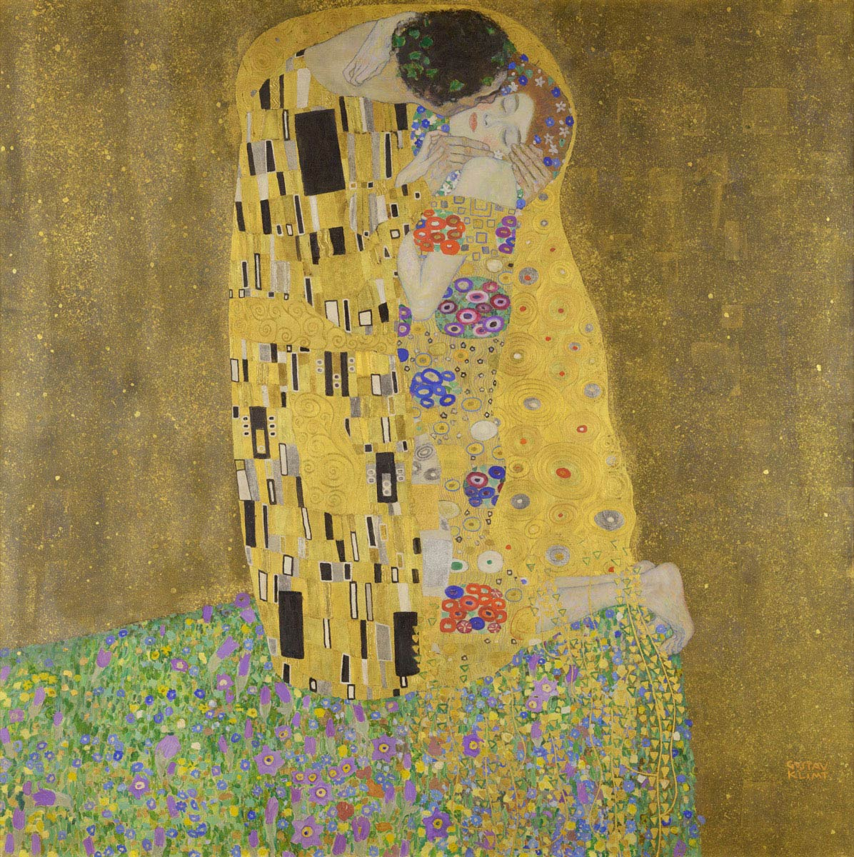 The Kiss by Gustav Klimt (1907)