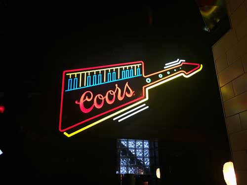 Coors gets into the Moogfest spirit with this neon keytar