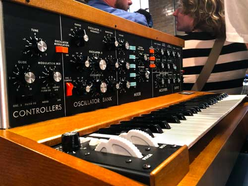 A closeup at the new Minimoog Model D