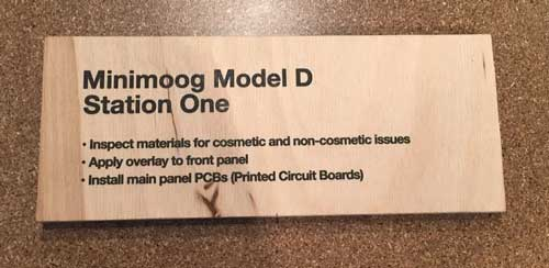 Minimooog Model D Production
