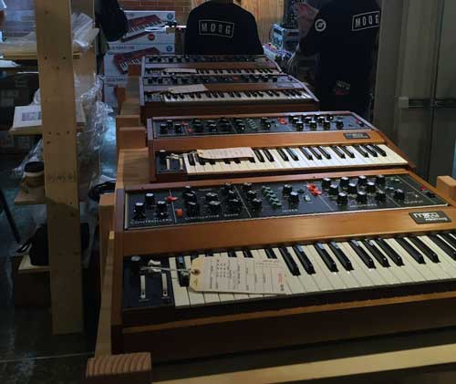 Minimoog Model D Reissues hot off the presses!