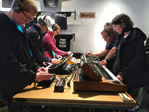 Of course, there were plenty of Moog synths to try out at Moogfest!