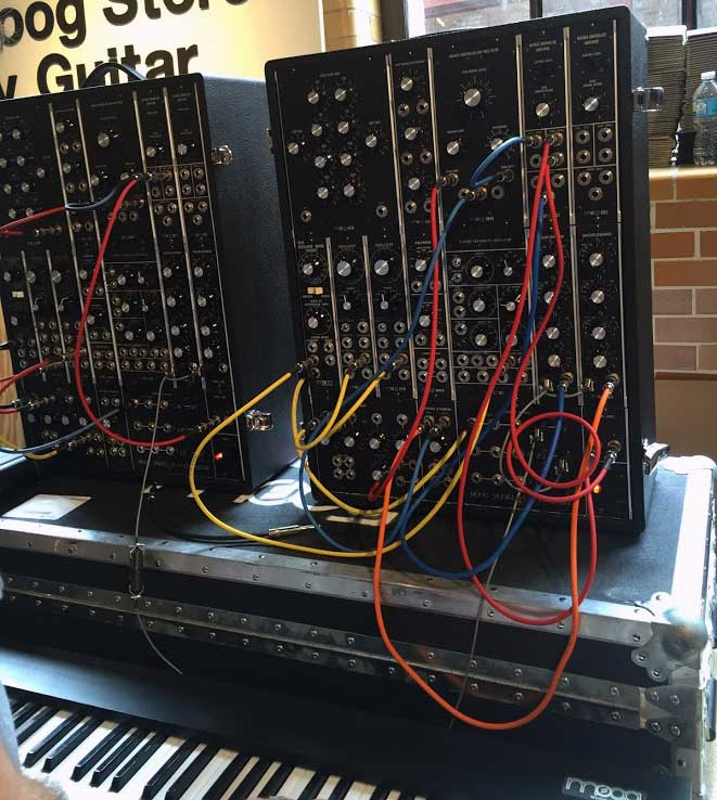 Moog Model 15 modular synthesizers