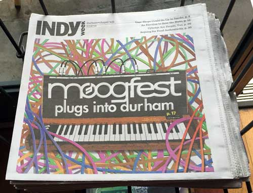 The local media was all about Moogfest 2016