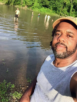 Victor snaps a selfie at the creek. (Credit: Wooten Woods Facebook page)