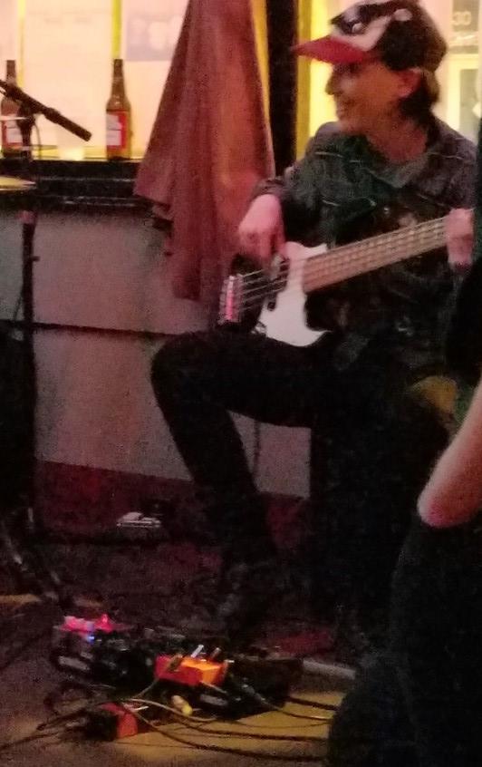 Eva grooves on her ESP PJ5 bass.