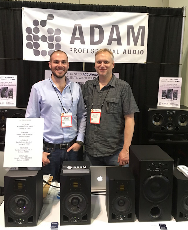 Adam and Ryan from Adam Audio. Check out their new monitor + subwoofer bundles now available!