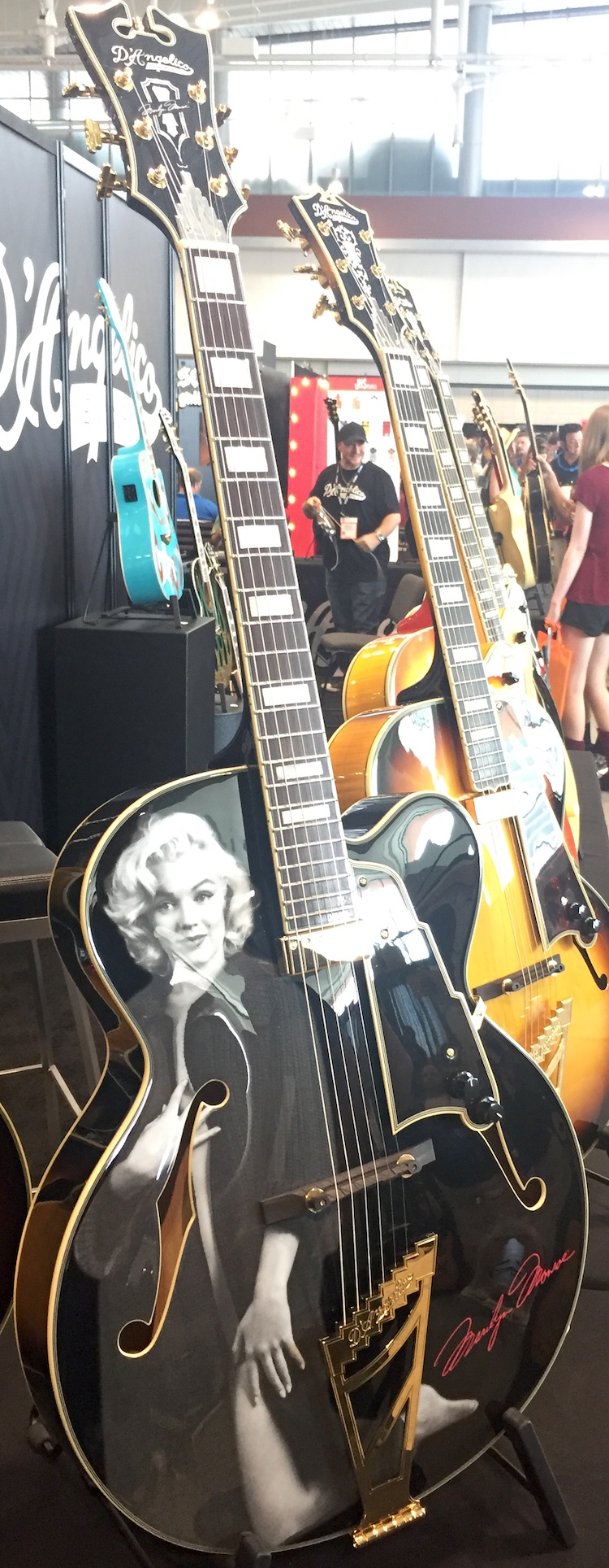 We got a closer look at the D'Angelico EX-59 Marilyn Monroe hollowbody.