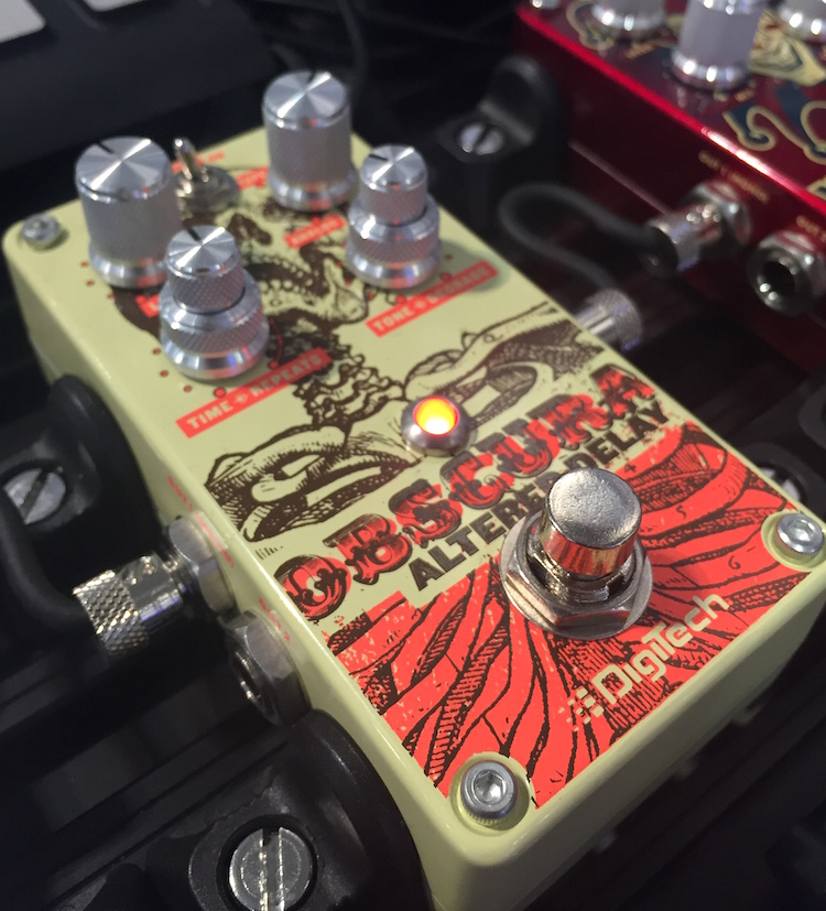 Digitech's Obscura altered delay pedal!