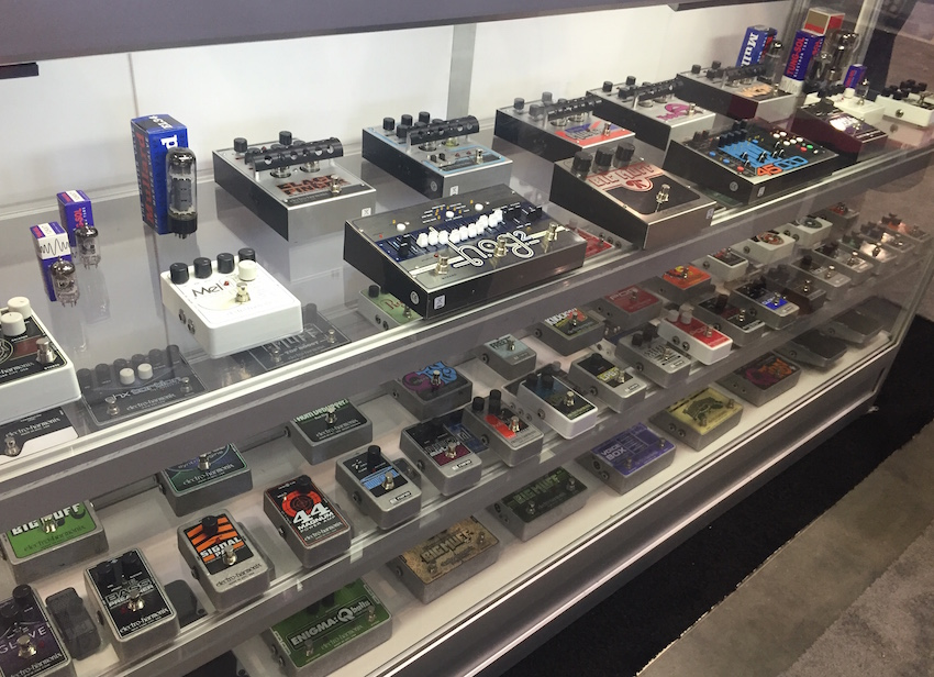 We stopped by the Electro-Harmonix booth to look at their pedals!