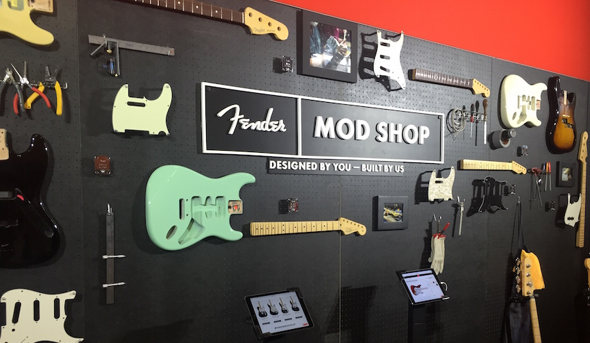 We stopped by the Mod Shop at the Fender booth.