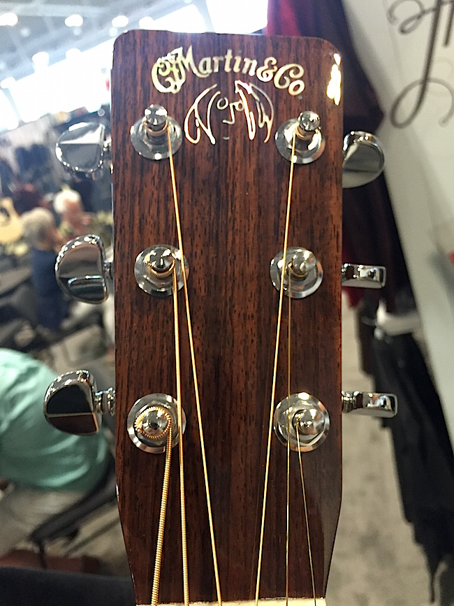 Martin D-28 John Lennon dreadnought headstock with the famous Lennon self-portrait on it!