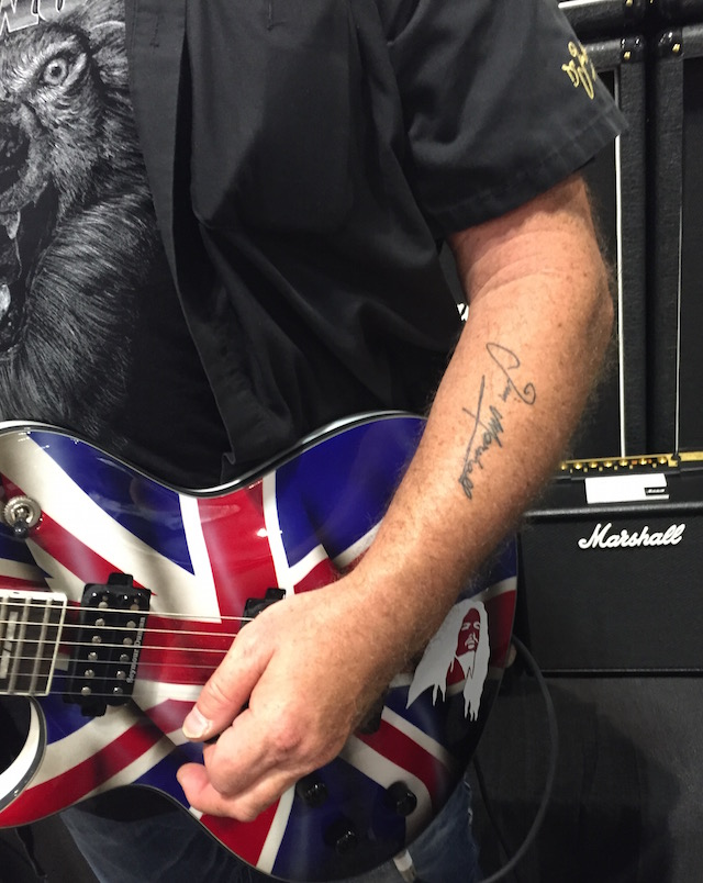 Nick Bowcott has a tattoo of Jim Marshall's signature.