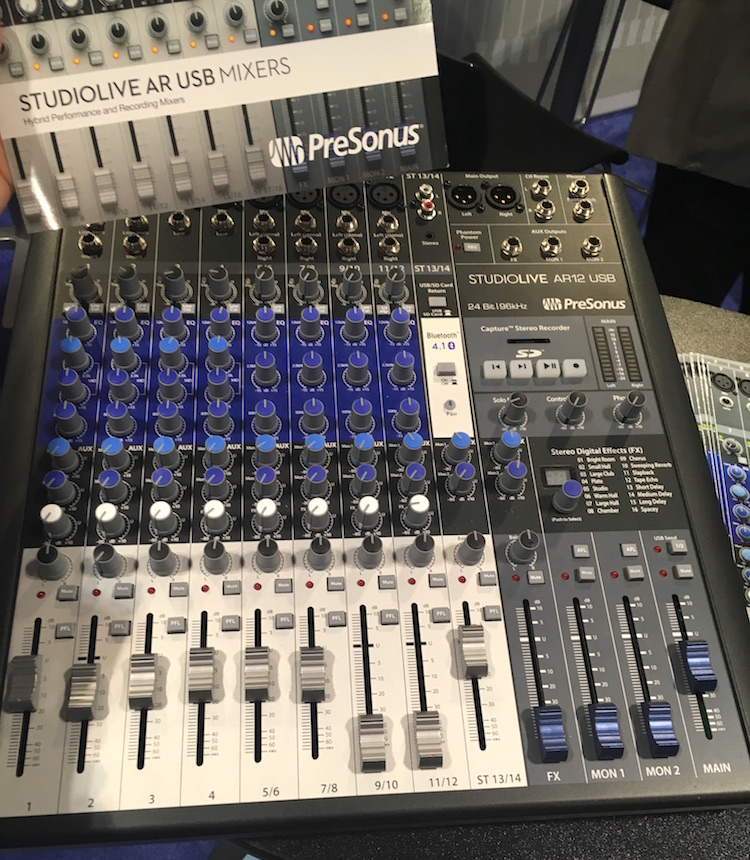 PreSonus StudioLive AR12: an analog mixer, SD card recorder, and a multichannel USB audio interface.