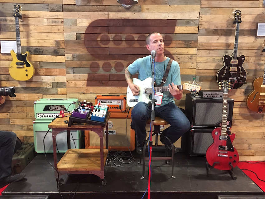 Another shot of Dave Nassie's demo at the Seymour Duncan booth.