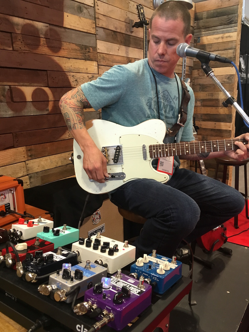 Dave Nassie demos Seymour Duncan pickups through the Palladium gain stage pedal.
