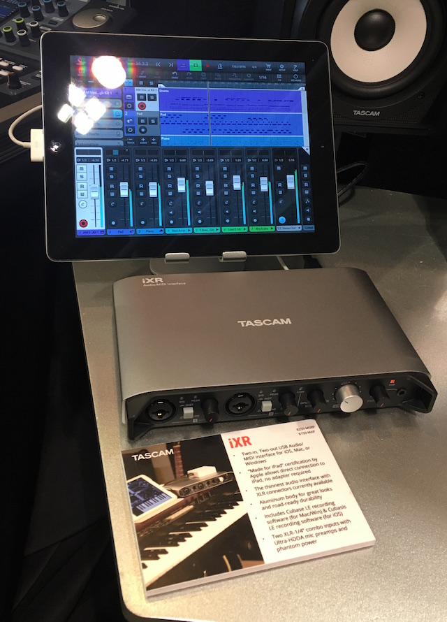 New from Tascam: the iXR audio interface -- it's bus-powered, no Camera Connection Kit needed!