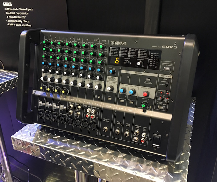 Yamaha's new EMX series powered mixers are here! Here's a look at the EMX5.