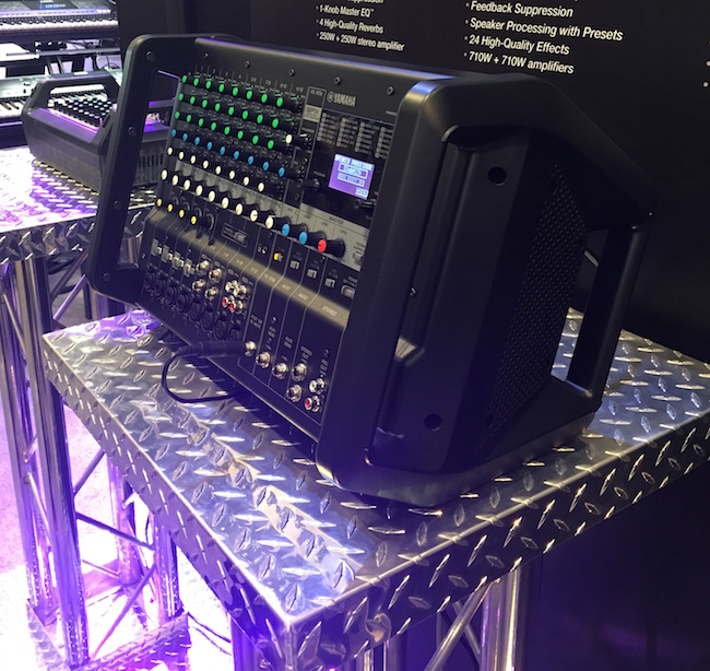 Yamaha's new EMX7 powered mixer is made for the road. Those