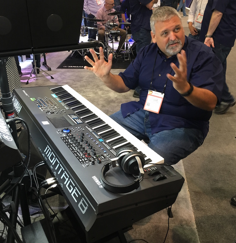 Reed Larrimore at Yamaha demonstrates the Yamaha Montage 8 -- now shipping!
