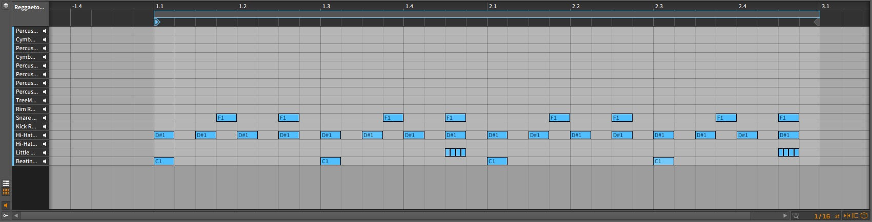 Bitwig Studio – Hi-Hats and Snare Roll Arrangement [Hi-Hat Silvery, Little Box Snare]
