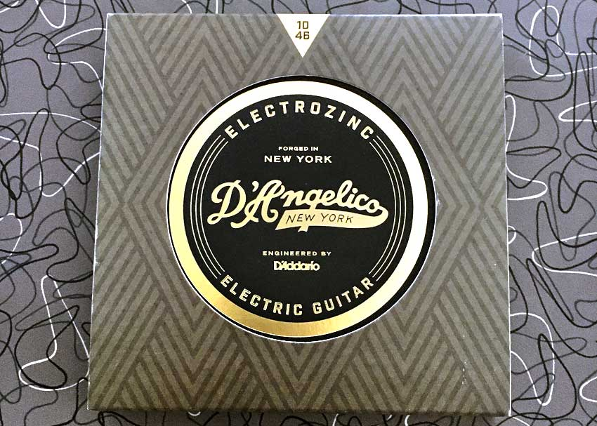 Forged in New York; engineered by D'Addario. D'Angelico Electrozinc Electric Guitar Strings