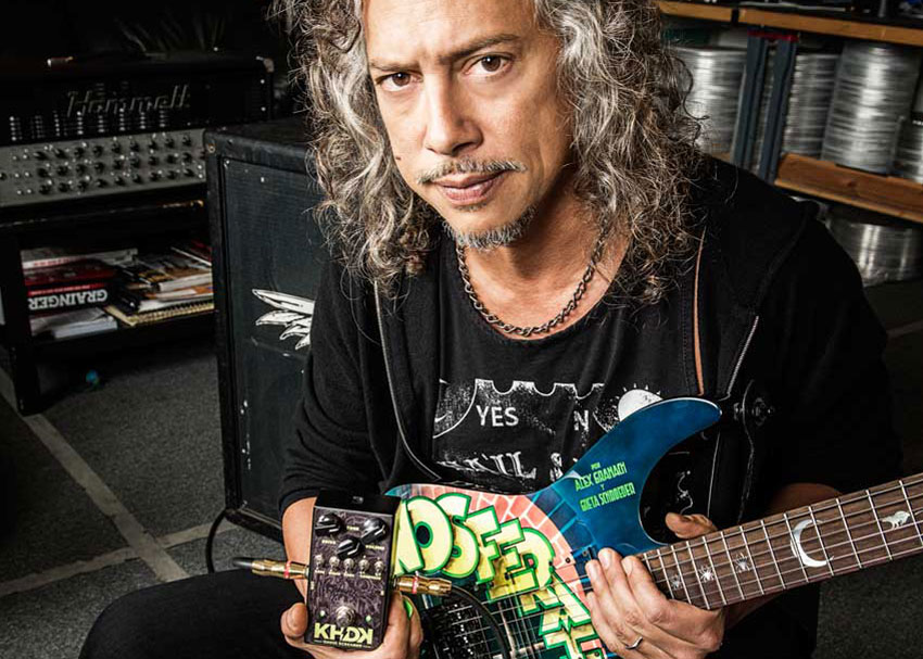Kirk Hammett of Metallica showing off his KHDK Ghoul Screamer.