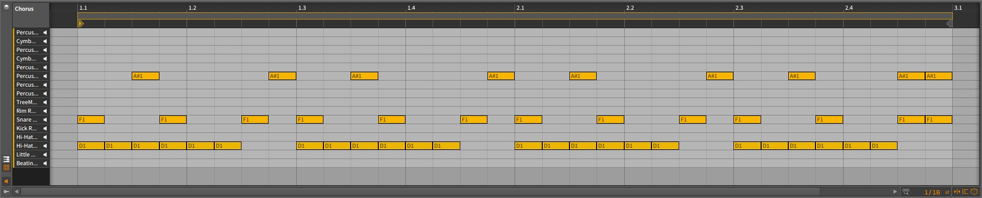 Bitwig Studio - Reggaeton Chorus Arrangement