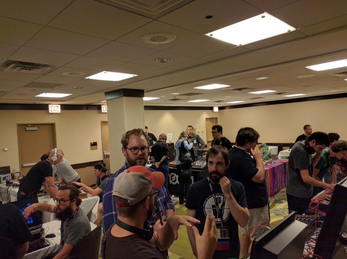 One of the Many Halls at Knobcon 2016