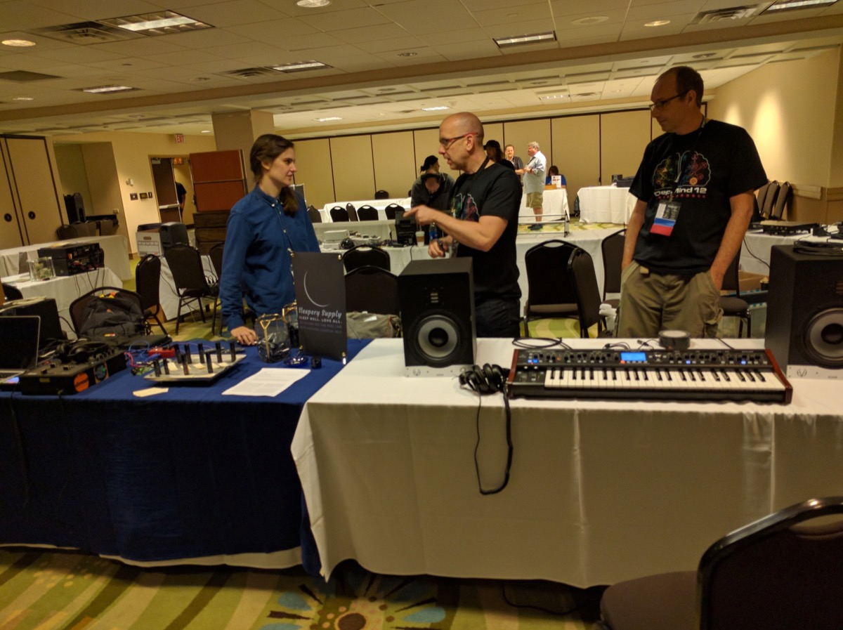 Sleepery Supply and Behringer Booths at Knobcon 2016