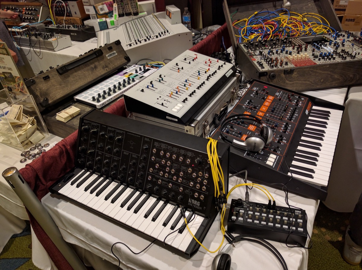 Korg Booth at Knobcon 2016