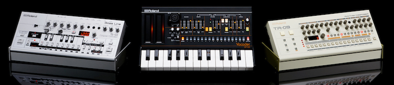 Roland TB-03, VP-03, and TR-09