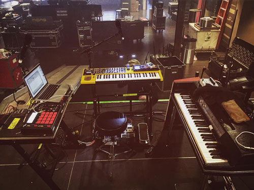 AWOLNATION keyboardist Kenny Carkeet's keyboard rig