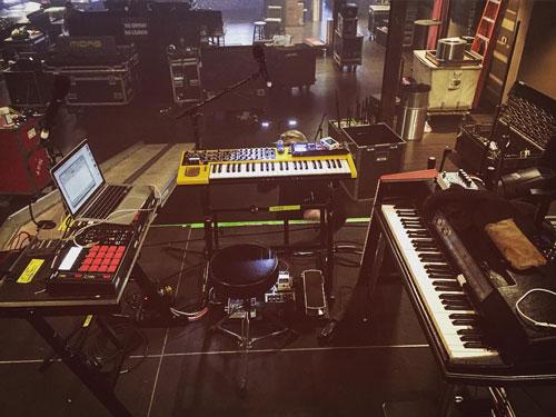 AWOLNATION keyboardist Kenny Carkeet's keyboard rig