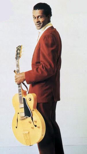 Chuck Berry with his Gibson ES-350T