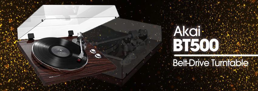AKAI BT500 belt-drive turntable
