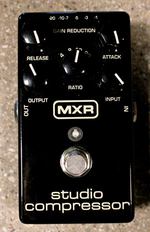 "We used an MXR Studio Compressor to achieve Gilmour's solo tone from ""Another Brick in the Wall, Pt. 2."""
