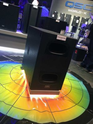 QSC at NAMM 2017: K Cardioid subwoofer
