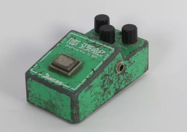 An Ibanez TS-808 Tube Screamer that is claimed to have belonged to Stevie Ray Vaughan.