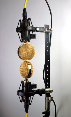 Cascade Fat Head II microphones in a Blumlein stereo pattern.