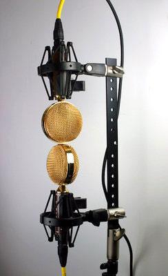Cascade Fat Head II microphones in a Blumlein stereo pattern.