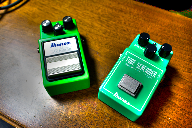 We used both an Ibanez TS-808 and TS-9 Tube Screamer in different sections of the video.