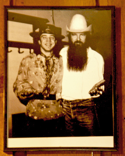 Stevie Ray Vaughan with fellow Texas Legend Billy Gibbons of ZZ Top. (photo credit James Cubed Design via Flickr)