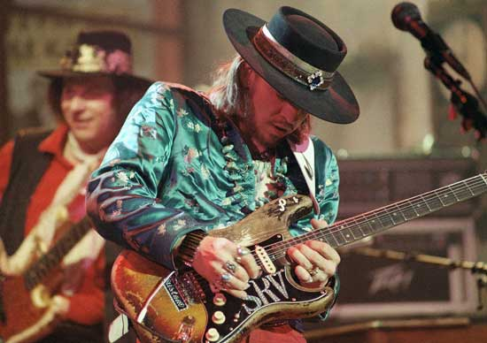 Stevie Ray Vaughan performing on his #1 Strat