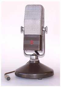 A vintage RCA ribbon microphone